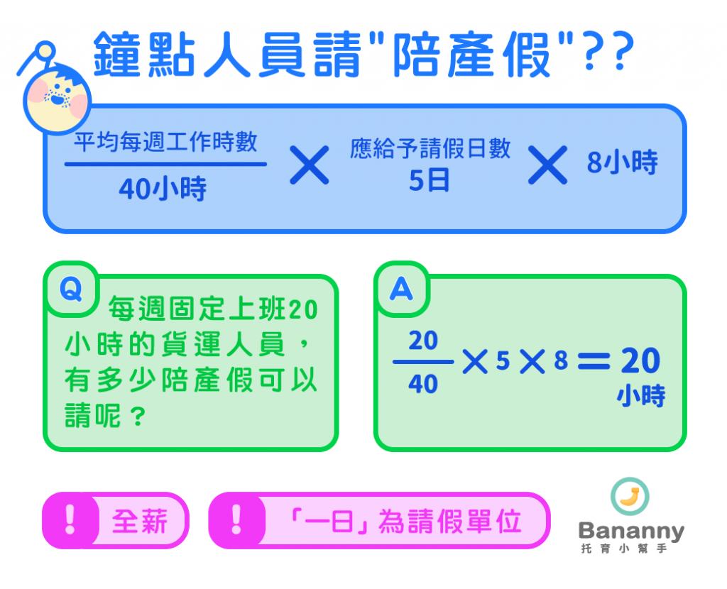 鐘點人員如何請陪產假/產假/產檢假?五張圖表一次看清楚!