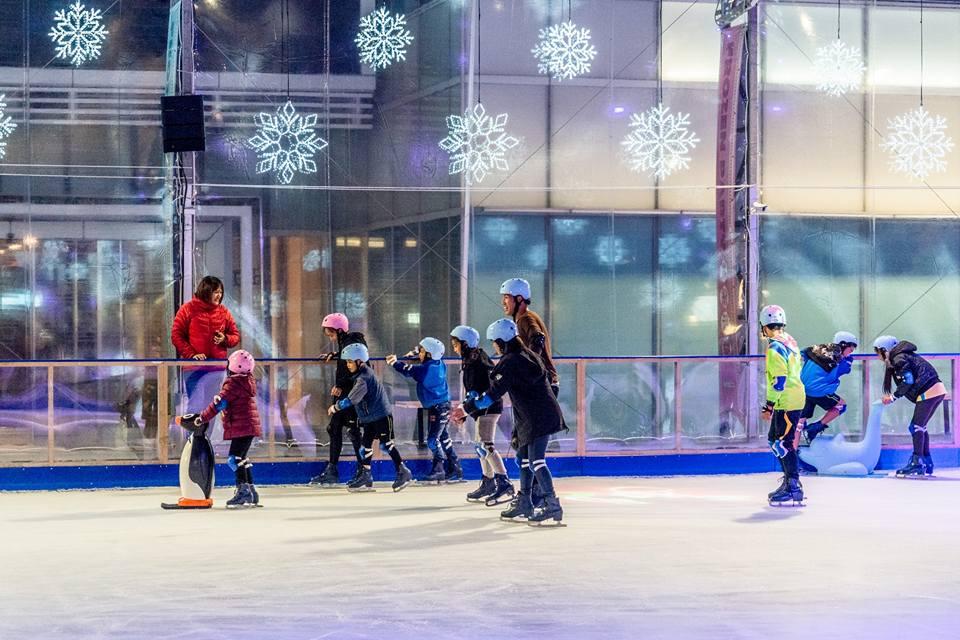 中國信託戶外公益滑冰場-南港親子景點