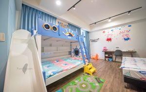 周末輕旅行:房間有滑梯和鞦韆的童話風親子民宿+親子景點整理!